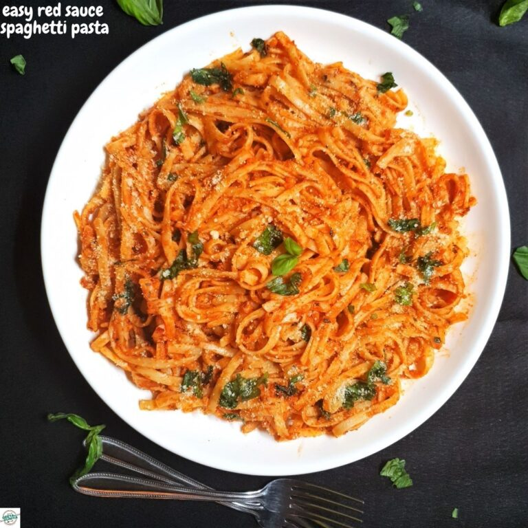 easy red sauce spaghetti pasta