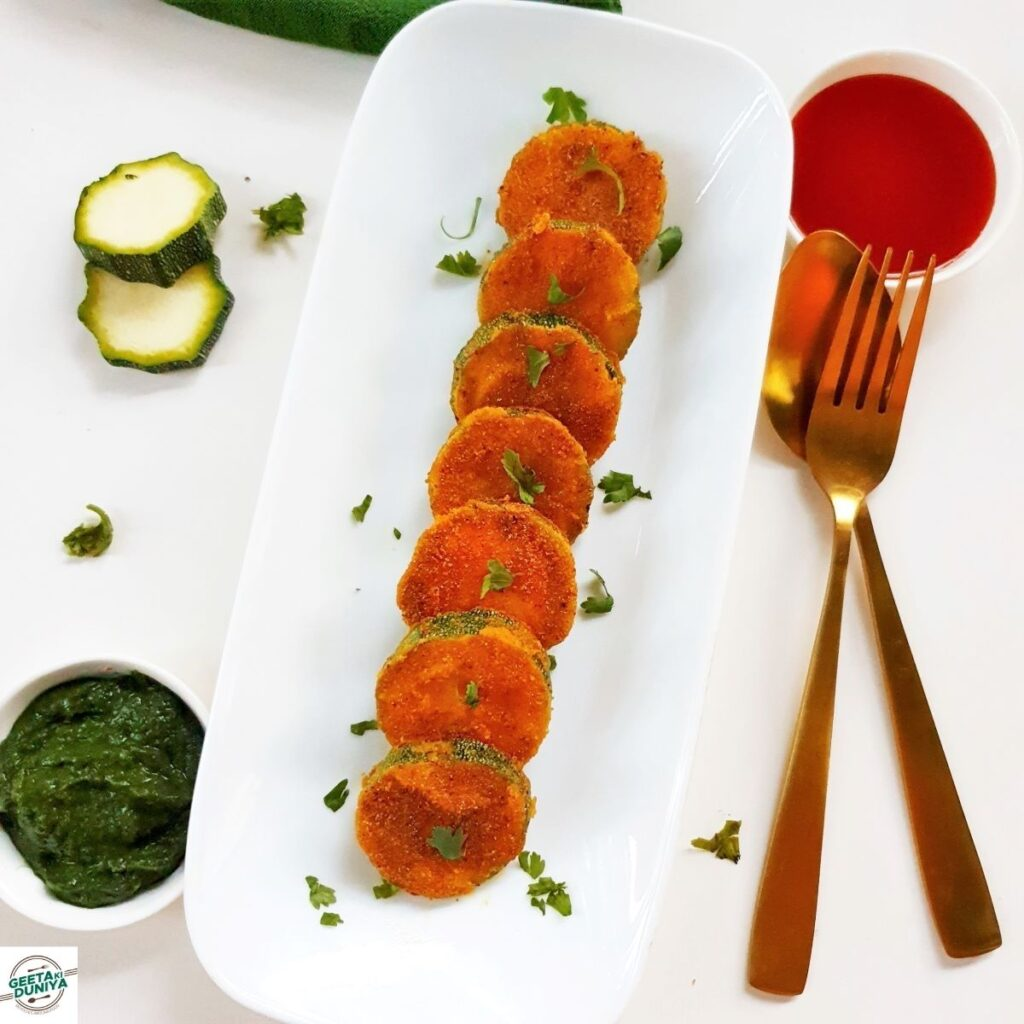 easy indian zucchini snack