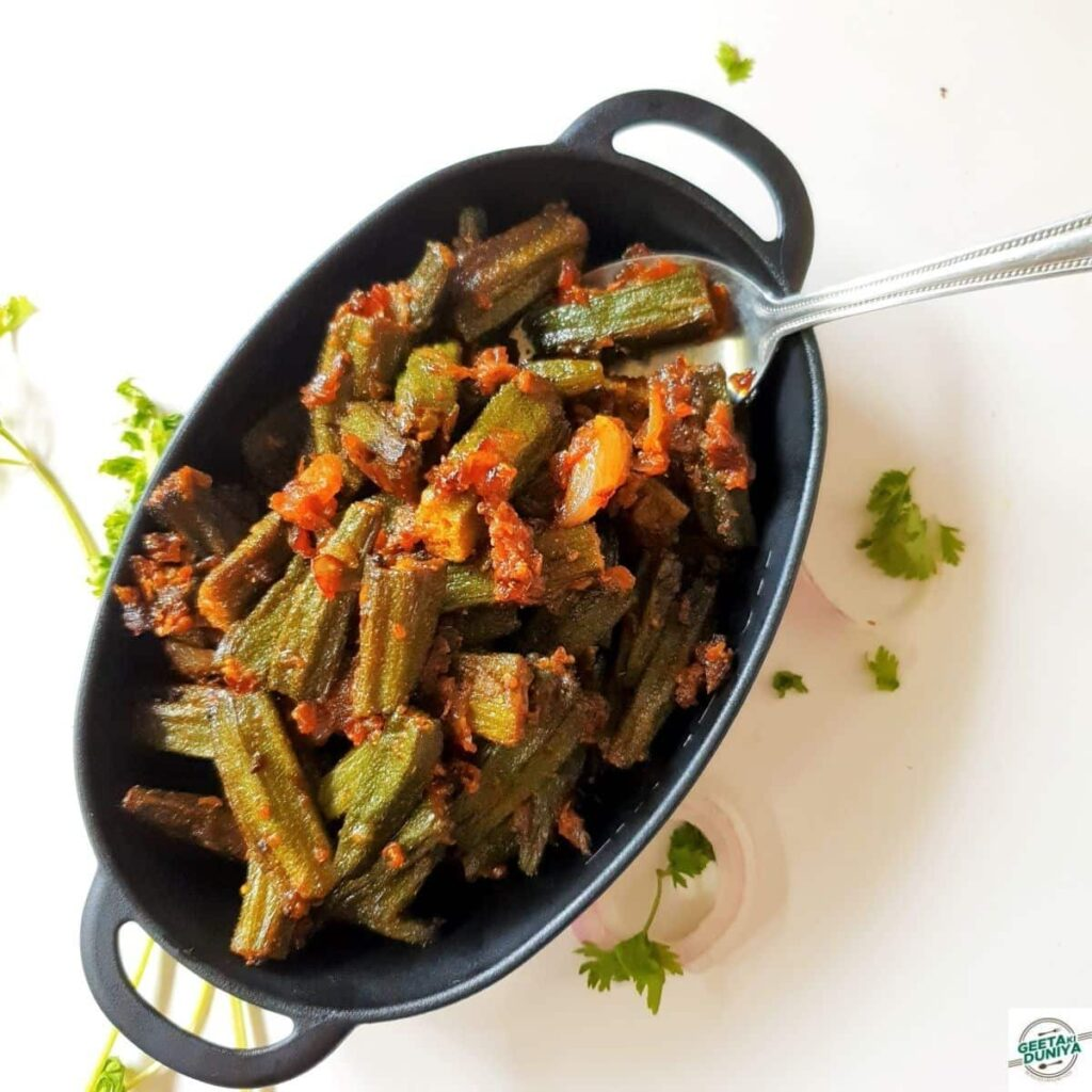 bhindi fry sabzi